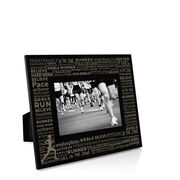 Running Engraved Picture Frame - Inspiration Words Female