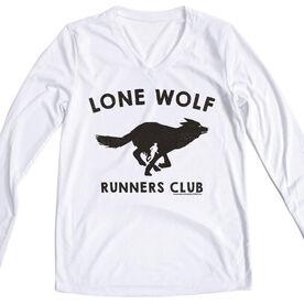 Women's Running Long Sleeve Tech Tee Run Club Lone Wolf