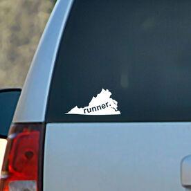 Virginia State Vinyl RUNNERDecal