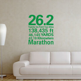 26.2 Math Miles GoneForaRunGraphix Wall Decal