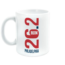 Running Coffee Mug - Philadelphia 26.2 Vertical
