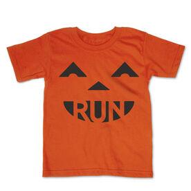 Running Toddler Short Sleeve Tee - Pumpkin Run