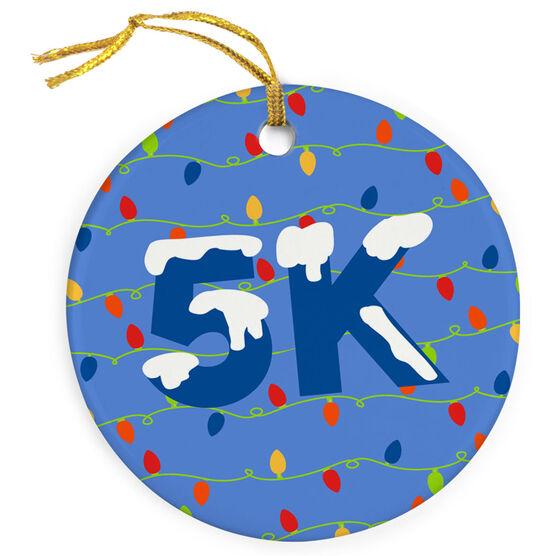 Running Porcelain Ornament 5K Christmas Lights