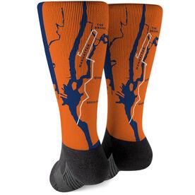 Running Printed Mid-Calf Socks - 26.2 New York Route