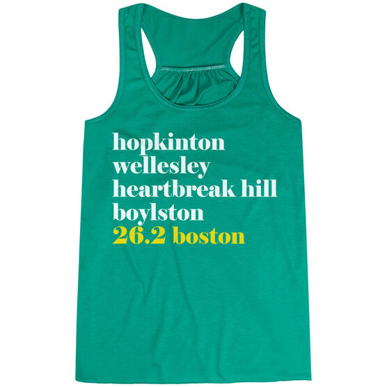 Flowy Racerback Tank Top - Run Mantra - Boston