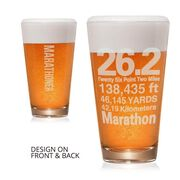 26.2 Math Miles 16 oz Beer Pint Glass