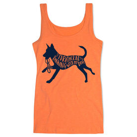 Running Women's Athletic Tank Top - I'd Rather Be Running with My Dog