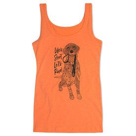 Running Women's Athletic Tank Top - Life's Short. Let's Run!