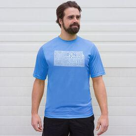 Men's Running Short Sleeve Tech Tee - Kansas State Runner