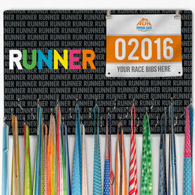 Running Large Hooked on Medals and Bib Hanger - Runner