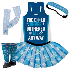 The Cold Never Bothered Me Anyway Running Outfit