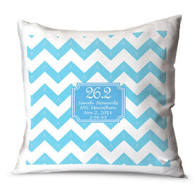 Running Throw Pillow Personalized Chevron 26.2