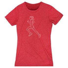 Running Women's Everyday Tee - Runner Girl Sketch