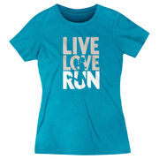 Women's Everyday Runners Tee - Live Love Run Silhouette