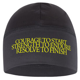 Run Technology Beanie Performance Hat - Courage Strength Resolve