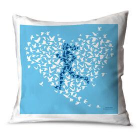 Running Throw Pillow Run With Your Heart