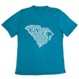 Women's Short Sleeve Tech Tee - South Carolina State Runner