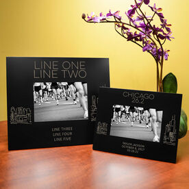 Running Engraved Picture Frame - Chicago Sketch