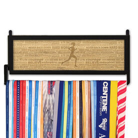 RunnersWALL Engraved Bamboo Medal Display Inspiration Runner Female
