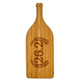 Wine Bottle Laser Engraved Bamboo Cutting Board 26.2 Vine Crest