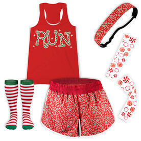 Candy Cane Run Running Outfit