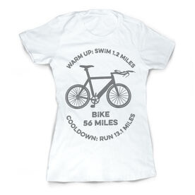 Vintage Triathlon T-Shirt - Warm Up Bike Cool Down 70.3