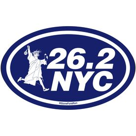 26.2 NYC Decal (White/Navy)