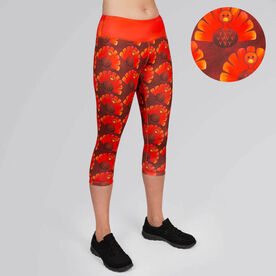 Running Performance Capris With Zipper Pocket - Run Now Gobble Later