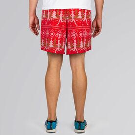 Guys Running Shorts - Ugly Christmas Sweater