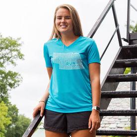 Women's Running Short Sleeve Tech Tee Nebraska State Runner