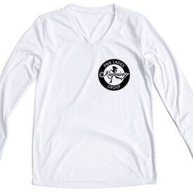 Women's Running Long Sleeve Tech Tee - Pacific Northwest Ladies Running Group Logo (Black)