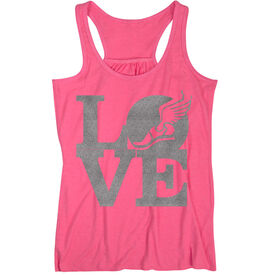 Track and Field Flowy Racerback Tank Top - Winged Foot Love