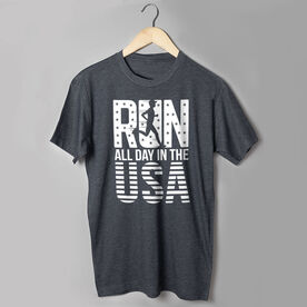 Running Short Sleeve T-Shirt - Run All Day In The USA