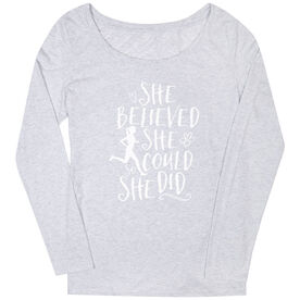 Women's Scoop Neck Tees She Believed She Could (Sketch)