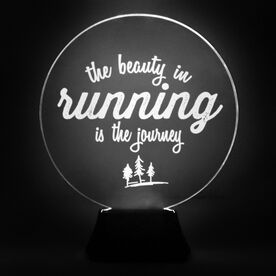 Running Acrylic LED Lamp The Beauty In Running Is The Journey