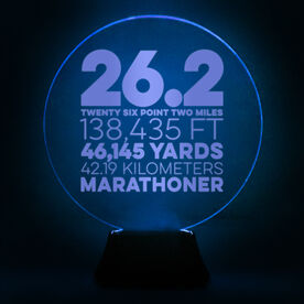Running Acrylic LED Lamp 26.2 Math Miles