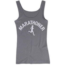 Women's Athletic Tank Top - Marathoner Girl