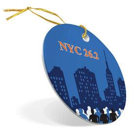 Running Porcelain Ornament NYC 26.2 Marathon