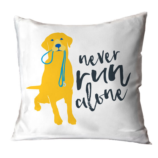 Never Run Alone Throw Pillow