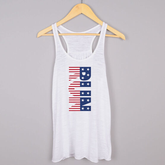 Flowy Racerback Tank Top - Patriotic Run