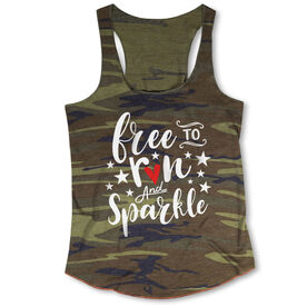 Running Camouflage Tank Top - Free To Run And Sparkle