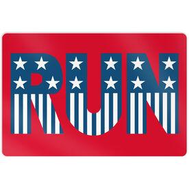 """Running 18"""" X 12"""" Aluminum Room Sign - Run Patriotic"""