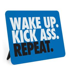 Running Desk Art - Wake Up Kick Ass