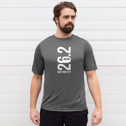 Men's Running Short Sleeve Tech Tee - New York City 26.2 Vertical