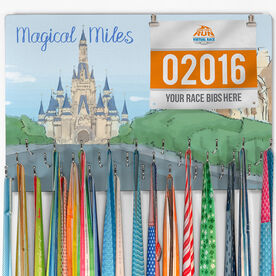 Hooked on Medals Bib & Medal Display Magical Miles Sketch
