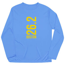 Men's Running Long Sleeve Tech Tee - Boston 26.2 Vertical