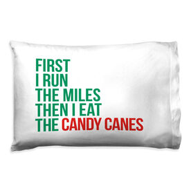 Running Pillow Case - Then I Eat The Candy Canes