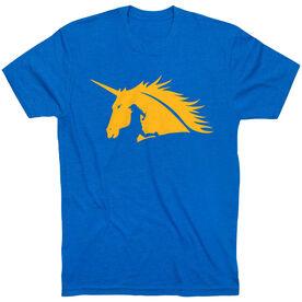Running Short Sleeve T-Shirt - Run with Unicorns- Runner Girl