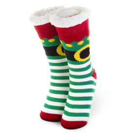 Elf Slipper Socks with Sherpa Lining