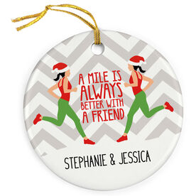 Running Porcelain Ornament - A Mile Is Always Better With A Friend